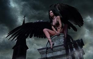 sky, angel