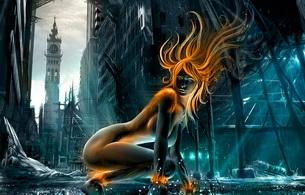 fantasy, girl, nude
