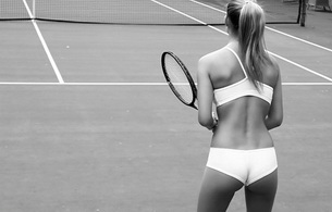 sex, sexy, model, ass, bar refaeli, tennis, black and white