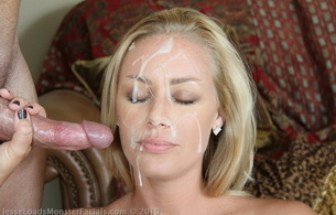 facial, blonde, goood, dick, cock, cumshot, sperm, ejaculate, face in sperm, jizz face