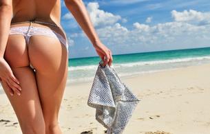 ariel rebel, lingerie, sexy, woman, ass, string, panties, perfect ass, beach, hot, gorgeous, butt, magnificent