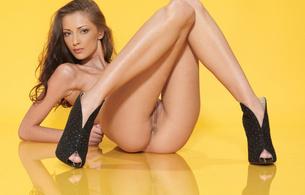 anna aj, anna sbitnaya, beautiful, brunette, cute, model, long legs, nice pussy, long hair, hot, sexy, pussy, labia