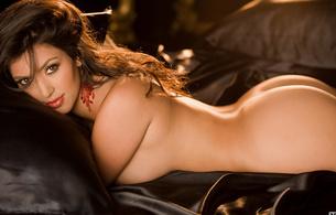 kim kardeshian, celebrity, playboy, nude, kim kardashian, naked, ass, perfect ass, cheeks, brunette, bed, hot, sexy, lips, dark eyes