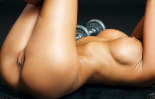 ava blue, boobs, tits, wet, gym, hi-res, nipples, labia, ava nude gym, hi-q