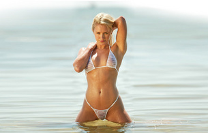 nicky whelan, actress, celebrity, water, beach, sand, nature, sexy, hot, see through, wet, model, beauty, amazing, blonde, sexy, nipples, ocean