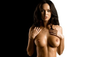 megan fox, actress, brunette, tits, nude, sexy, fake