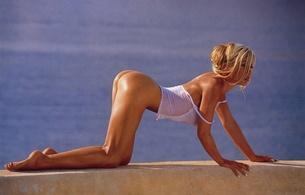 ramona drews, blonde, ass, doggy, beautiful female legs