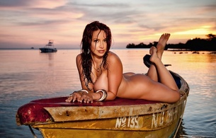 bianca beauchamp, nude, tits, sexy, boat, wet, sunset, lake, canadian, model, redhead, sexy babe, fetishqueen, heaven, clouds, sundown, pin up style, legs, feet, wet hair