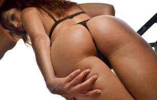 sexy, lingerie, ass, butt, buttocks, hips, closeup, ariel rebel, perfect ass, tanned, looking up, thighs, healthy ass