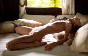 girls, tits, big, nude, naked, model, brunette, bed, pillows, window, linda l, linda, ivette blanche, juicy, beauty, hot, shaved, tippy toes, hot ass, perfect girl, amanda lauren, lara, toula, yvette