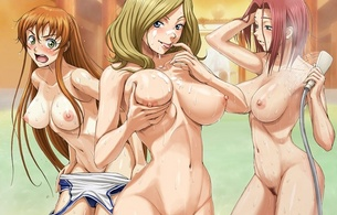anime, nude, tits, three, code geass, hentai, shower, wet, red-haired, blonde, brunette, big boobs, bit tits, boobs, tits, squez, nipples, body, sexy, hot