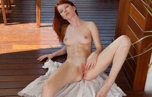 mia sollis, lynette, redhead, redhair, pussy, shaved, spread, tits, fingering, spreading pussy, hi-q