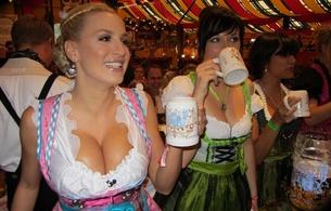 ockteberfest, model, jordan carver, drink, babes, boobs, big tits, oktoberfest, decollete
