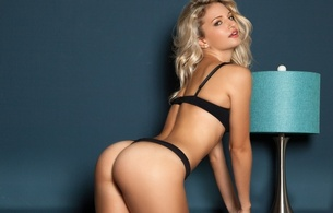 playboy, mandy marie, playmate, blonde, lingerie, ass