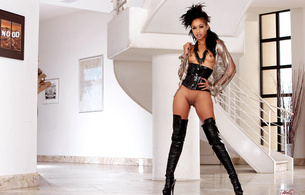 black, ebony, hot, babe, skin diamond, high boots, pvc, leather, fetish, skinny, delicious, shaved, exotic, sexy babe, posing, kinky dressed, overknee, high boots, boots, punk, milk chocolate, shaved pussy, pussy, small tits, tits
