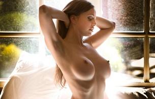 boobs, nipple, hot, sexy, abigail mac, boobs, brunette, window, juicy