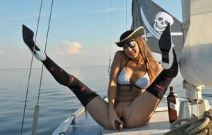 maria ryabushkina, pussy, erotic, sexy, public, spreading legs, sexy plum, pirate, jolly roger, sexysu4ka, skull and crossbones, russian