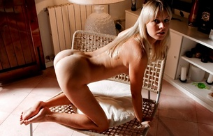 Walpaper blonde, sexy girl, nude, naked