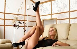 sexy, girl, black dress, sexy legs, heels, sarah, beautiful female legs, hips, thighs