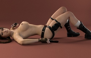 girls, tits, big, nude, naked, model, lara croft, 3d, virtual, lara, naked, nice tits, nipples, erotic art