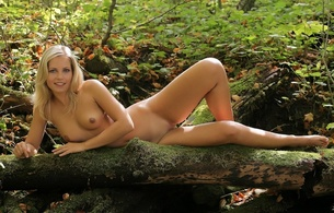 outdoors, rocks, trees, pretty, nude, naked, forest, jenni, jenni gregg, jenni kohoutova, blonde, boobs, legs, pussy, delicious, natural, shaved, perfect pussy