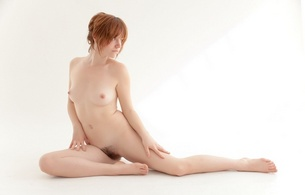 nude, naked, red-haired, model, pussy, hot body, sexy, cute, cool, beautiful, small tits