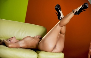 eva lovia, brunette, sexy girl, nude, naked
