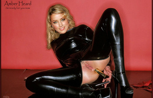 amber heard, celebrity, latex, pussy, dildo, fake, rubber, high heels, dam hot, personality, shiny, rubber, fetish, spread, legs, toying, herself, golden, dildo, catsuit, open crotch, celebrity fake, fetish babe, dressed for sex