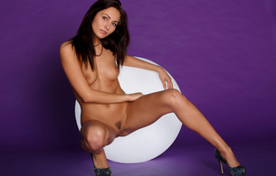 kalena a, beauty, pussy, legs, hot, sexy, brunette, tits, trimmed, purple, michaela isizzu