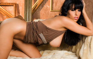 jaime hammer, brunette, gorgeous, beautiful, beauty, hot, sexy, perfect, body, breasts, nipples, legs, bed, pillow, hot, sexy, sensual, lingerie, woman, model, tits out, thighs