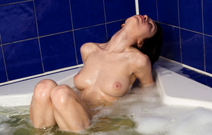 eufrat, brunette, gorgeous, beautiful, sensual, perfect, breasts, nipples, cleavage, body, legs, bath, tub, bubbles, foam, wet, sexy, hot, model