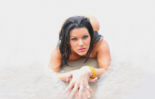 angelina castro, beach, water, sexy, beutyful, perfect, beautyful face