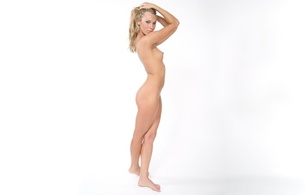 blonde, hot, nude, naked, sexy, cute, model, erotic, anastasia b, nasty, minimalist wall