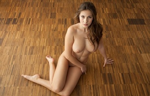 josephine, brunette, nude, naked, girls, sexy, amateur, model, floor, hi-q