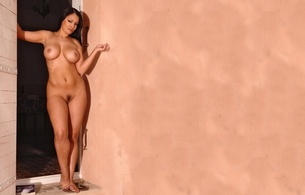aria giovanni, brunette, nude, model, boobs, tits, pussy