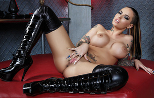 christy mack, hot, pornstar, high heels, boots, boobs, big tits, latex, brunette, american, adult model, enhanced boobs, posing, laying, legs, spread wide, shiny, black, lycra, stockings, pvc, knee boots, tasty, snatch, knockers, hoops, tattoos, fetish babe, plateau boots, spread pussylips, dressed for sex, babes in boots