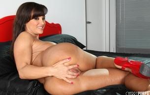 lisa ann, fingeing, tits, brunette