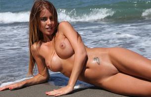 nude, blonde, tits, boobs, pussy, tatoo, alexa, alexa varga, beach