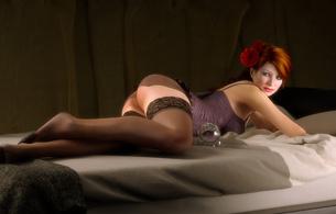 black angel, stockings, girl, ass, legs
