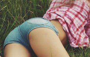nikita kalinin, girl, babe, hot, ass, legs, shorts