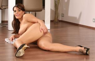 amy, heels, model, babe, ass, pussy, spreading, nude, legs, heels, brunette, hot, ass wallpaper