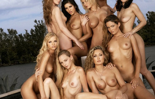 xxxwalls, group, outdoors, penthouse models, sunny leone, charlie laine, melissa jacobs, hanna hilton, olivia kent, prinzzess, kelle marie, kimberly williams, michelle ramos, lilly ann
