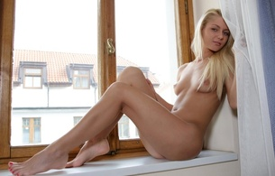 grace, nude, legs, boobs, tits, blonde, model, window, anneli, annely gerritsen, pinky june, grace c, window, beautiful fingers on legs, beautiful feet