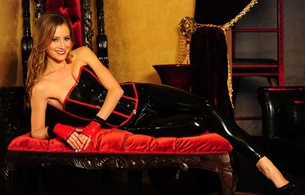 hot girl, fetish, pvc, latex, leggins, sofa, smile, candace bailey, leggings, corset, sexy babe, brunette, laying, posing, smile, shiny clothes, gloves, heels, fetish, red lips, sexy dressed, lingerie series, fetish babe