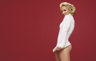 britney, britney spears, classy, blonde, white dress, sexy babe, minimalist wall, pin up style, singer, celebrity, personality, hi-q, real celebs wall