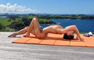 girls, nude, boobs, sexy, legs, brunette, yoga, melisa mendiny, kristina walker, carrie du four, lexa