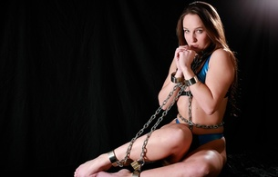 sammie b, sexy babe, submissive, latex, chains, boud, bikini, barefoot, collar, bondage, erotic, sammie, glamour, metal chained, bdsm, hi-q, shiny clothes, fetish babe, slave, skinny, delicious, sexy, perfect girl
