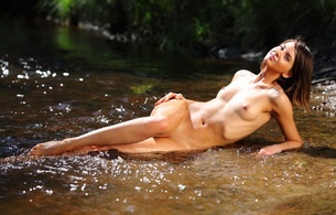 calla a, brunette, sexy girl, nude, naked, wet, legs, tits, boobs, breasts, nipples