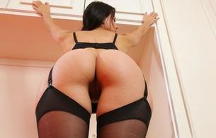 melisa mendiny, kristina uhrinova, kristina walker, lexa, model, brunette, ass, pussy, big ass, sexy, stockings, hot, perfect ass, black stockings, hot ass, beautiful buns, ass wallpaper