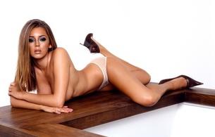 keeley hazell, beautiful, lingerie, heels, hot, legs, panties, brownette, real celebs wall, hi-q